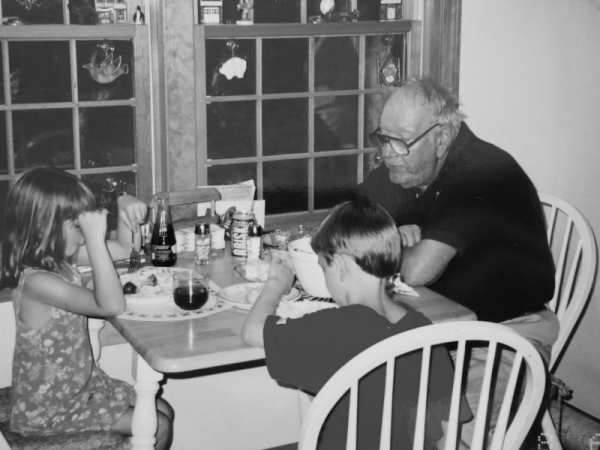 Dinner with Grampa back in the day